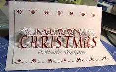 Christmas card designed on Cricut
