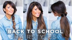 Super Easy & Cute Back To School Hairstyles ! Check out our new Luxy Hair video for simple and quick hairstyle ideas :) https://www.youtube.com/watch?v=WDhppsFPYcw