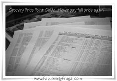 You no longer have to pay full price at the grocery store. If you know the price points you can buy your groceries when they are on sale! LOVE THIS GUIDE!