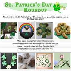 Kid's St. Patrick's Day craft tutorials, activities and printables.