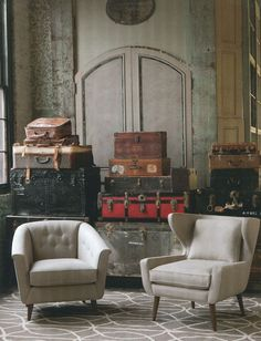 Old world architecture, say hello to modern furniture.