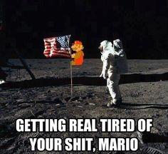 Get off my flag, bro!