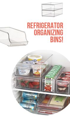 Crate and Barrel has organizer bins for your fridge. I need to get some, what a great idea.