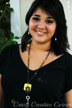 Journey To Life ~ Spina Bifida Awareness necklace (modeled by Rachel)