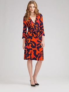 can't go wrong in a dvf wrap dress