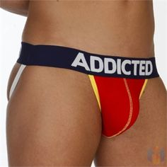 Addicted Push Up Jock Red Navy