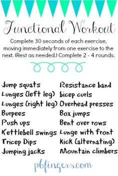 Functional Workout From Peanut Butter Fingers #FitFluential