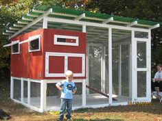 Nice coop - Cool looking - plenty of room - not too small for #chickens or people  #urban