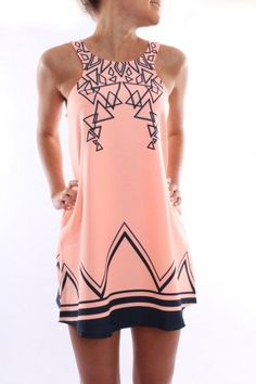 summer dresses, summer vacations, summer fashions, style, color, geometric shapes, design interiors, peach, short dresses