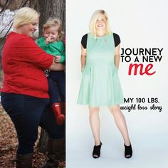 I love this girl's story. She did it right- lost 100 pounds through healthy eating and exercise. Way to go!
