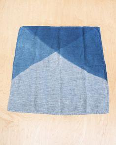 linen indigo hand dye
