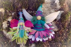 Forest Fairy Crafts - Love the teal hair!