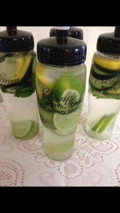 Lemon, Lime, Cucumber and Mint Detox. . . Best weight loss water. www.losewithlauren.com