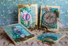 Riikka Kovasin - Paperiliitin: By The Sea ATC cards - Canvas Corp Brands - 7gypsies Maritime Collections - beautiful images by and for the sea.