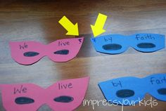 Super Hero - great idea for helping kids learn bible verses