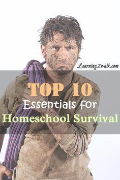 Top 10 essentials for #homeschool survival according to 100 moms