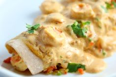 Creamy Cajun Shrimp Enchiladas...