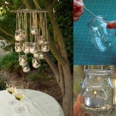 How to Make a Candle Jar Chandelier