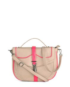 nude bag with pops of neon