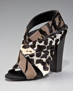 Mixed-Print Woven Sandal by Giuseppe Zanotti at Last Call by Neiman Marcus.