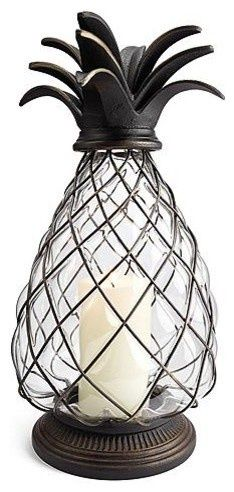 Glass Pineapple ... love decorating with pineapple decor!