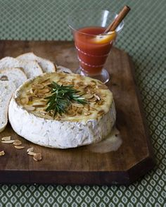 Baked Brie with Rosemary Honey and Toasted Almonds