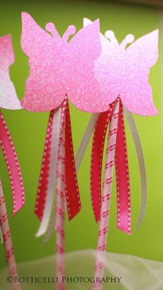 I like party favors that the birthday girl and I can make together, like these sweet fairy wands.