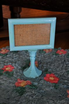 Shabby Chic  Pedestal Frame  Distressed Blue by RekindledPleasures, $12.00