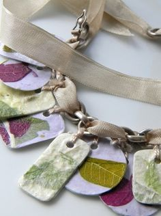 paper & mod podge charm bracelet...