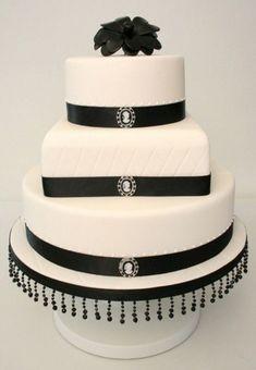 white cake, cupcak, cake idea, white cameo, black grey, white weddings, cameo black, cake black, white wedding cakes