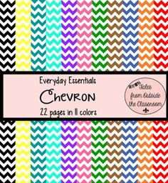 CLASSROOM DECOR- YELLOW AND WHITE CHEVRON - TeachersPayTeachers.com