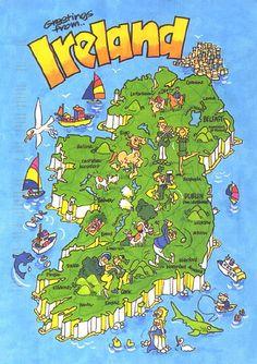 fun map of Ireland