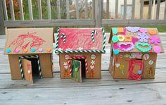 cardboard gingerbread house kids craft