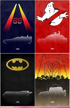 Minimalist Movie Car Posters