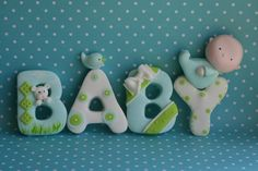 Baby Boy Fondant Cake Topper by Sugar High, Inc.