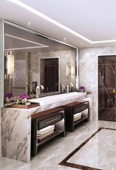 Find the perfect lighting fixtures  for your luxury bathroom. Check more at luxxu.net #bathroom #interiordesign #luxury #luxuryhomes #bathroomideas #lighting