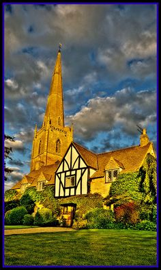 Cotswold Cottage and St Gregory's Church, Tredington by CotswoldPhoto, via Flickr, UK