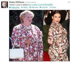 Robin Williams tweeted: