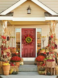 3 Fun Themes for Fall Door Decorations @midwestliving.com
