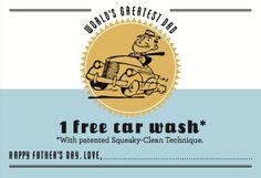 Martha Stewart car wash coupon