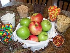 Caramel apple dipping party--yum!