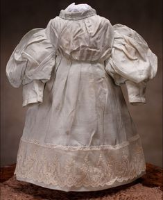 antique french fashion doll clothes | Antique French White Muslin Dress