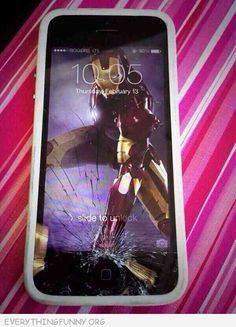 Creative way to make the best of a broken phone http://everythingfunny.org