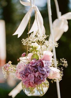 Hanging flower arrangements!!!