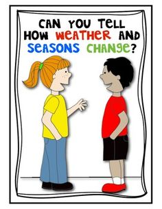 (sample page) Seasons and Weather Change (SCIENCE POSTER SET -5) for the Classroom. $