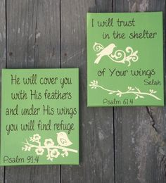 Psalm verses - vinyl on canvas