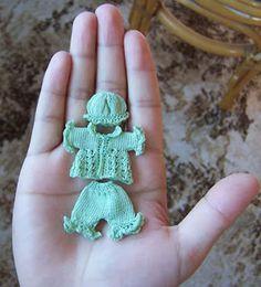 miniatur knit, crafti stuff, trajecito miniatura, suits, miniatura en, crochet miniatur, ropa miniatura, miniatur doll, pram suit