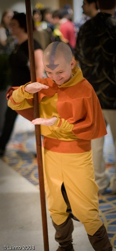 Aang, the Last Avatar cosplay.