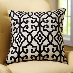How about gifting a couple of on-trend accent pillows to freshen up a space-- we love this black and white BHG Irongate design.