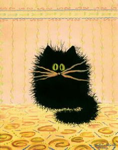 Cranky Cat Art by Cynthia S. - Cat Alley - Cat Lovers Gifts